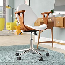 Felson Desk Chair Blue Elephant Upholstery Colour: