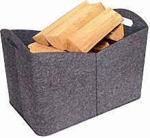 Felt Firewood Basket, Fireplace Wood Bag