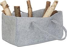 Felt Firewood Basket, Portable Magazine Holder,