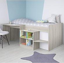 Feltner Contemporary Cabin Bed In Elm