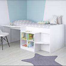 Feltner Contemporary Cabin Bed In White