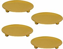 Femongy 4 Pcs Candle Holders, Metal Candlestick