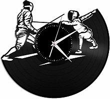 Fencing vinyl wall clock, vinyl record home