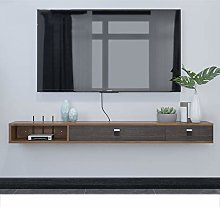 FENG Wall Mounted TV Stand Shelf Rack Cabinet