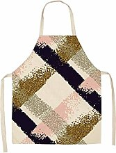 Fengdp Cooking 1Pcs Simple Pink Gold Series Cotton