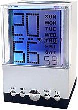 FENGLI Creative Colorful Calendar Pen Holder Alarm