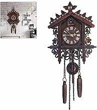FENGLI Cuckoo Wall Clock (Dark Black) for Home