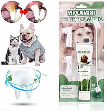 FENGLI Dog Toothbrush and Toothpaste Kit, Pet Dog