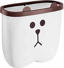 FENGLI Hanging Trash Can,Kitchen Cartoon Trash