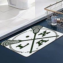 FengYe Soft Microfiber Bath Mat,Lacrosse LAX
