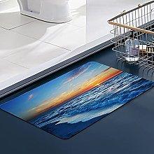 FengYe Soft Microfiber Bath Mat,Landscape map sea