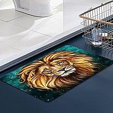 FengYe Soft Microfiber Bath Mat,Lion Aslan
