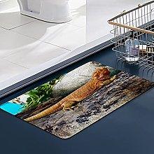 FengYe Soft Microfiber Bath Mat,Lizard On Giant
