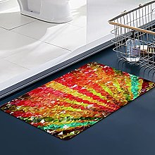 FengYe Soft Microfiber Bath Mat,Low Poly