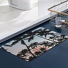 FengYe Soft Microfiber Bath Mat,Pacific Palms