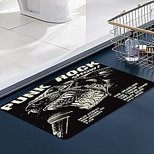 FengYe Soft Microfiber Bath Mat,Punk Rock Gig