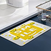 FengYe Soft Microfiber Bath Mat,Smiley Faces