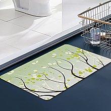 FengYe Soft Microfiber Bath Mat,Tree Bathroom Mat,