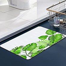 FengYe Soft Microfiber Bath Mat,Tropical Leaves