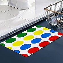 FengYe Soft Microfiber Bath Mat,Twister Bathroom