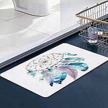 FengYe Soft Microfiber Bath Mat,Watercolor