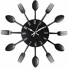 Fengyuanhong Kitchen Wall Clock 3D Modern Cutlery