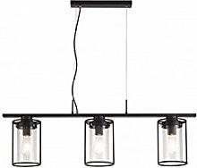 Feniks Pendant Light with 3 Bulbs 30 cm Black
