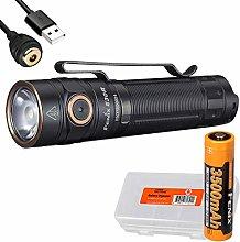 fenix E30R Rechargeable Flashlight, Black