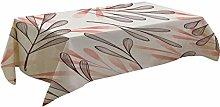 Fenleo Tree Leaf Pattern Table Cloth Rectangular
