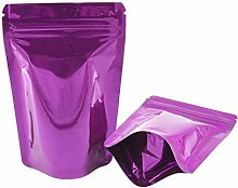FENNER 100 Pieces Resealable Smell Proof Bags Foil