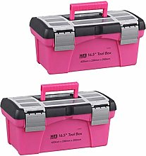 Fenteer 2 Pieces Plastic Pink Tool Box Cage for