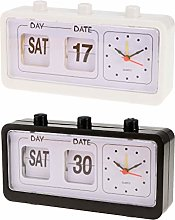 Fenteer 2Pack Flip Alarm Clock Desk Top Beside