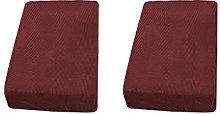 Fenteer 2xRed Sofa Seat Cushion Covers Slipcover