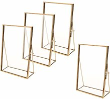 Fenteer 4 PCS Photo Picture Frame, Floating Wall