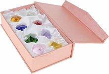 Fenteer 8pcs/set Assorted Color K9 Crystal