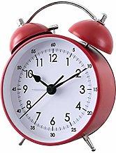 Fenteer Alarm Clock Twin Bell Vintage Mute Alarm