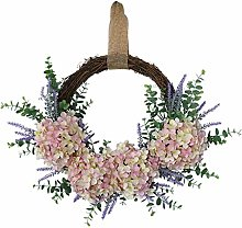 Fenteer Artificial Eucalyptus Wreath Fake Flower