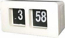 Fenteer Auto Flip Clock Desk Clock Mute Table