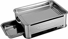 Fenteer Barbecue Charcoal Grill, Portable Charcoal