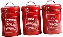 fenteer Canister Set for Coffee Tea Sugar - 3