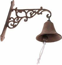 Fenteer Country Rustic Door Bell Wall Mounted
