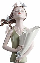Fenteer Decorative Vase, Elegant Fairy Girls