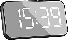Fenteer Digital Alarm Clock Large Mirrored LED