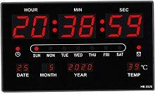 Fenteer Digital Wall Alarm Clock with Date Indoor
