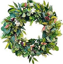 Fenteer Eucalyptus Wreath Flower Garland for Front