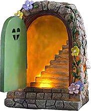 Fenteer Fairy Solar Lights Garden Ornament,