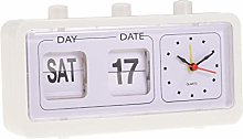 Fenteer Flip Alarm Clock Desk Top Beside Clock