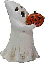 Fenteer Friendly Ghost Holding Pumpkin Indoor