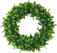 Fenteer Greenery Flower Door Wreath Garland Decor,