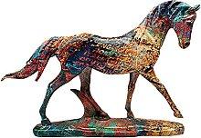 Fenteer Horse Statue Decoration Engraved Walking